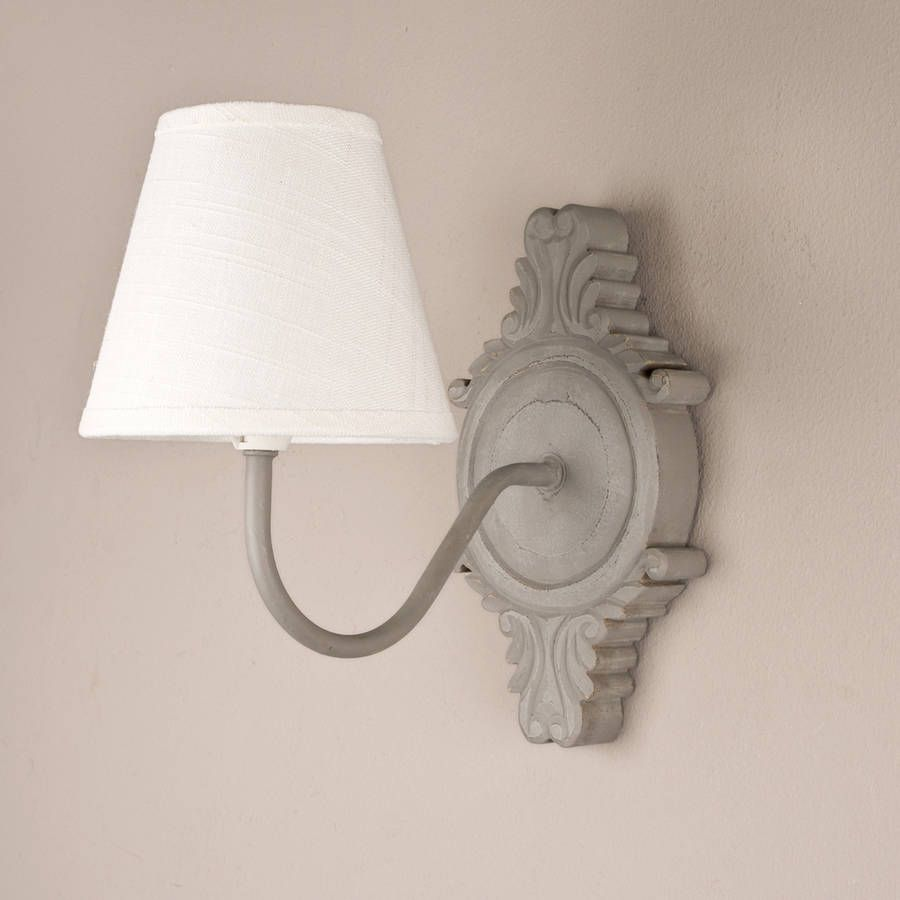 Ornate French Grey Wall Light | French grey, Walls and Lights on grey walls with art ideas, grey walls with design, grey walls with fireplace, grey walls with wood furniture,