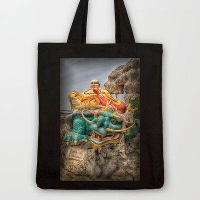 Buddha Dragon Tote Bag by Adrian Evans - $18.00