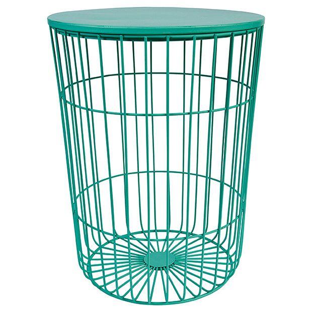 Hudson Wire Frame Side Table   Mint | Target Australia