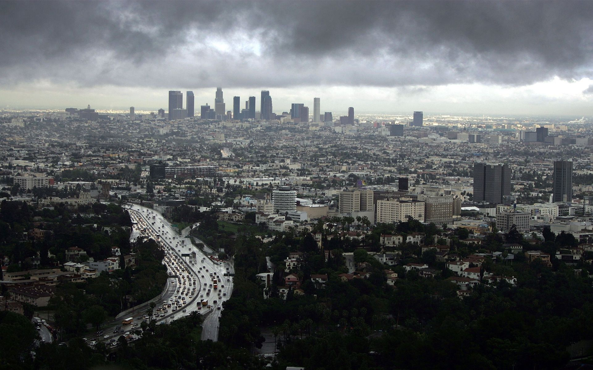Cloudy Weather City Los Angeles Wallpaper Los Angeles