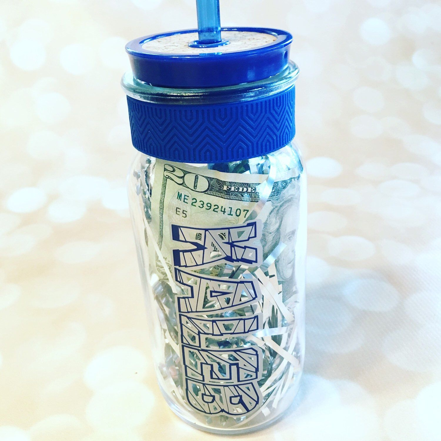 A personal favorite from my Etsy shop https://www.etsy.com/listing/278517510/personalized-16oz-glass-tumbler-with