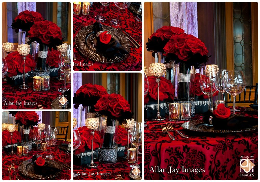 red black floral centerpieces | ... at the pwg luncheon red and ...