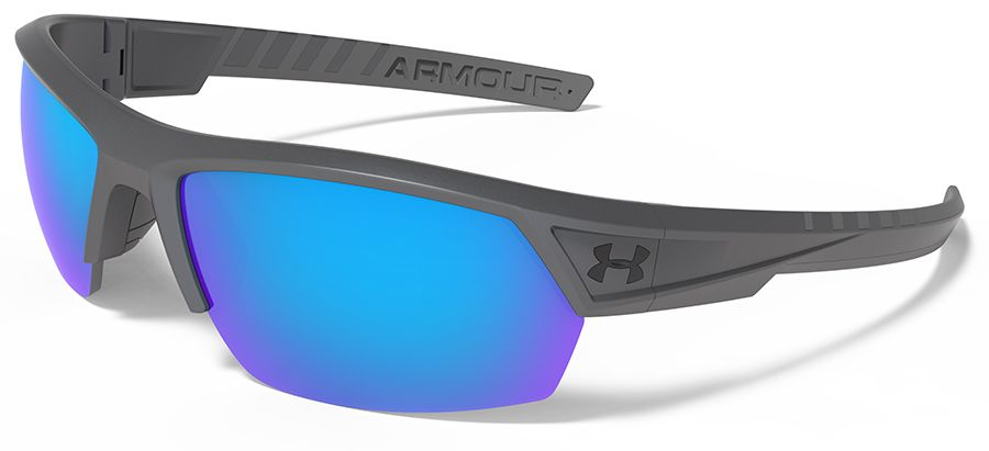ad8b35a662 Under Armour Igniter 2.0 Storm Sunglasses with Satin Carbon Frame and Blue Multiflection  Polarized Lenses
