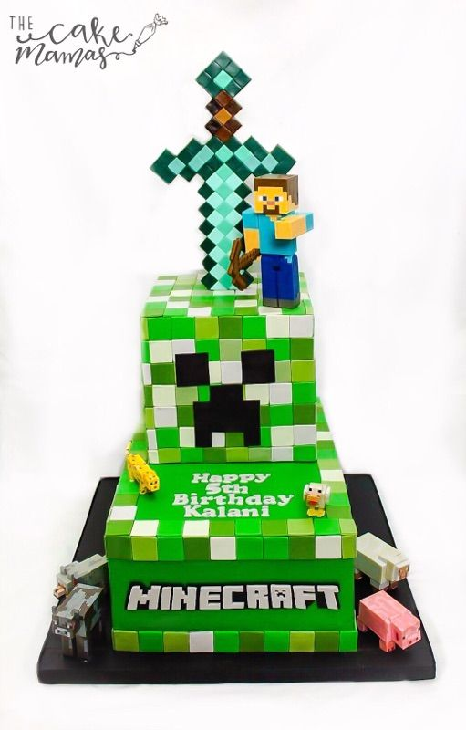 Minecraft Cake Cakes Pinterest Krumelmonster Und Torten