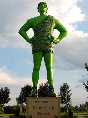 Top 50 American Roadside Attractions Time Roadside Attractions Blue Earth Green Giant