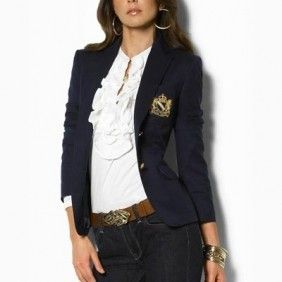 Distinguished Ralph Lauren Women's Crown Crested Blazer ~ And yes I have it  ;