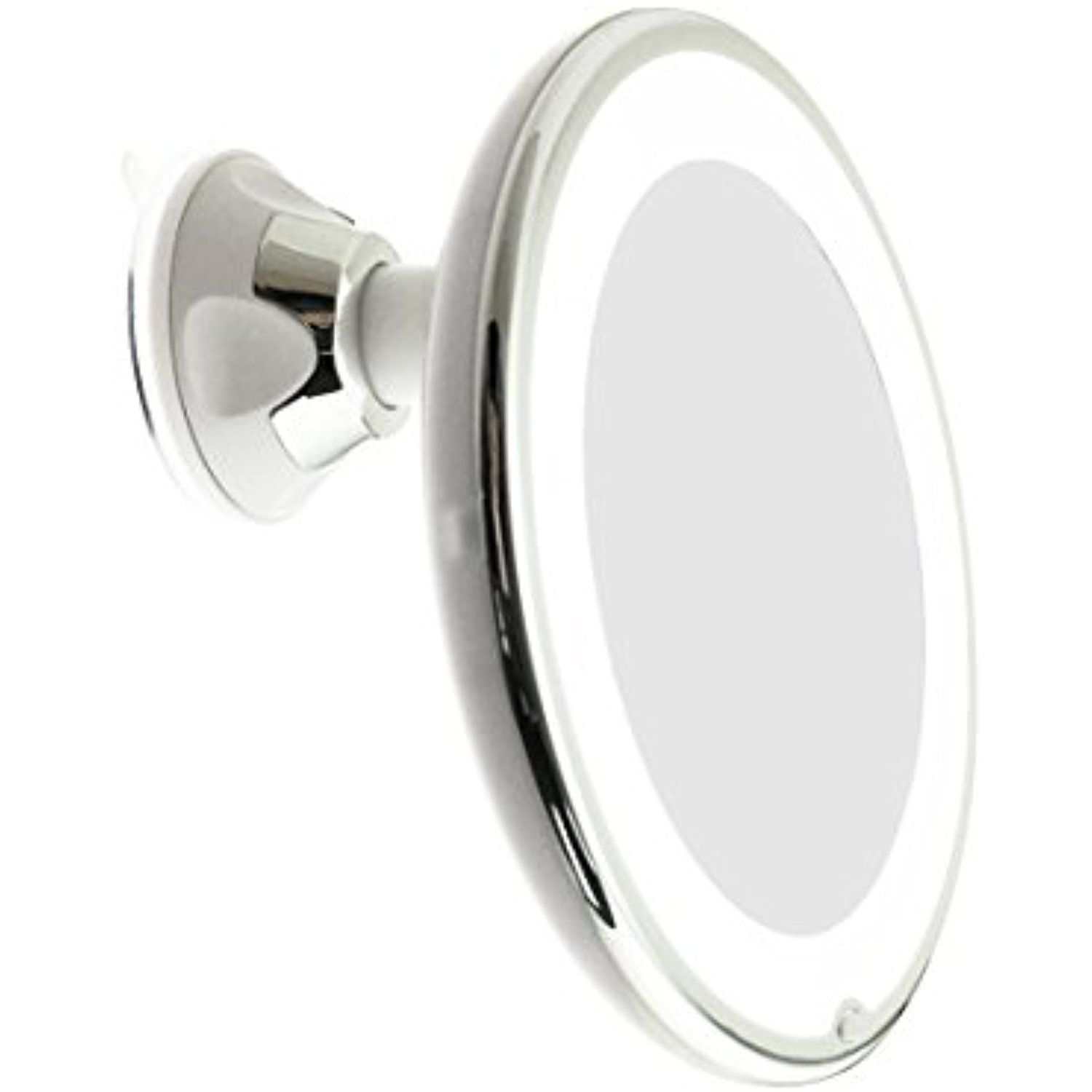 Jiben Led Lighted 10x Magnifying Makeup Mirror With Power Locking Suction Cup Br Lighted Magnifying Makeup Mirror Makeup Mirror Makeup Vanity Mirror