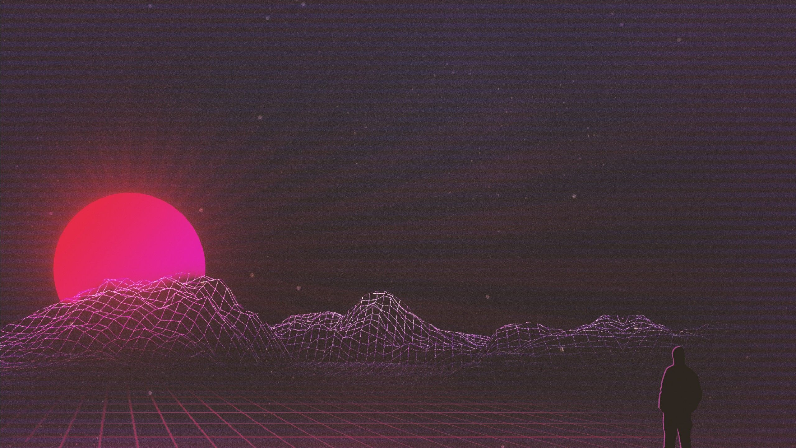 Sunset Retrowave 2560 1440 Hd Wallpaper Pinterest Wallpaper