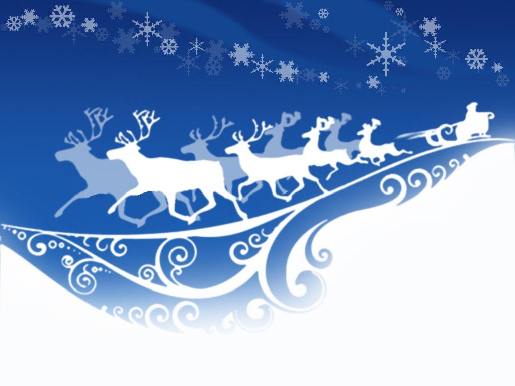 Santa Claus Reindeer Hd Wallpaper Merry Christmas