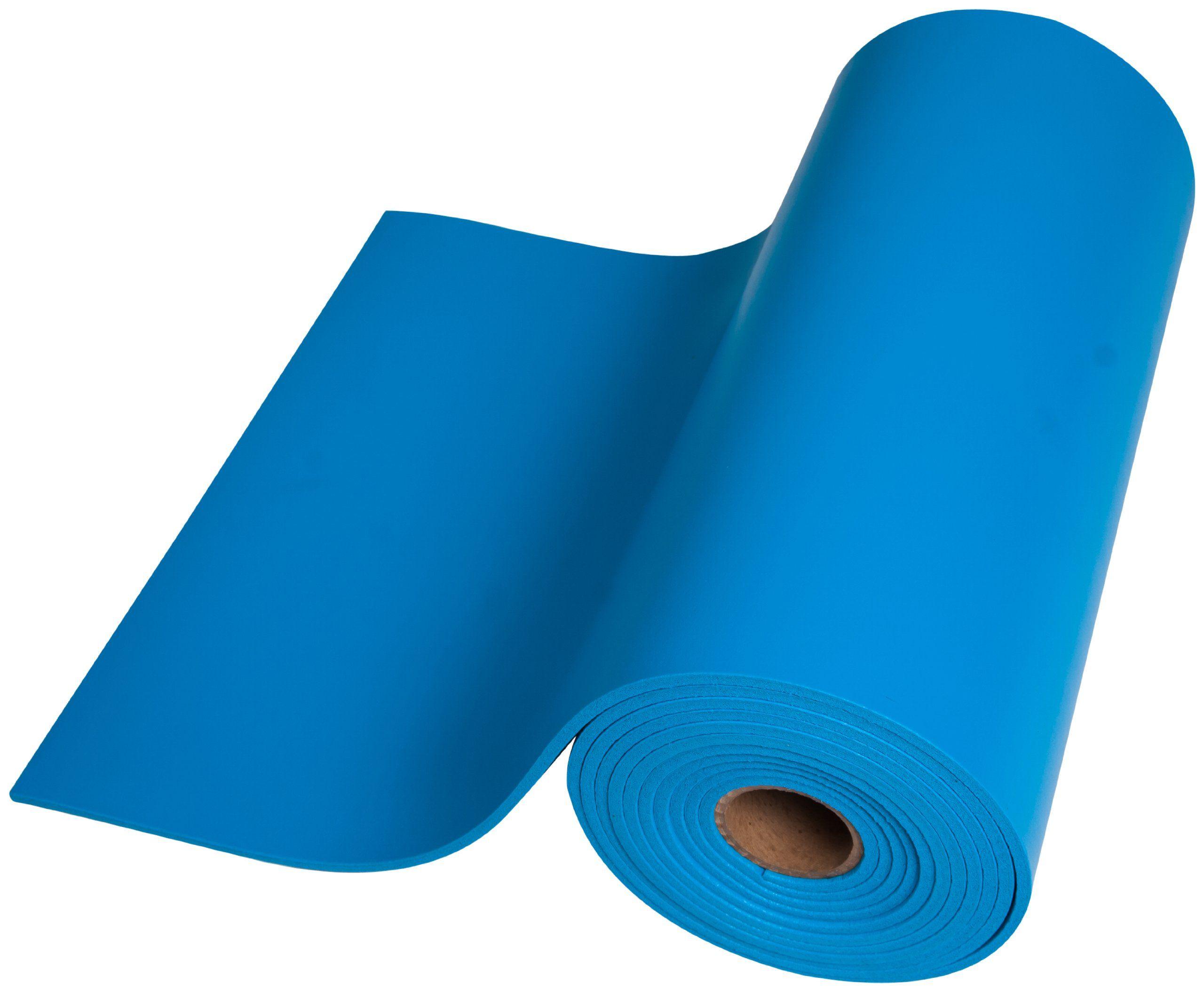 Esdproduct Pvc Foam Mat Roll 3 8 Thick 30 Length 2 1 2 Width Blue Foam Mats Foam Pvc