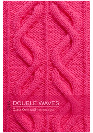 Cable Knitting Stitches » Cable panel 1 » Double Waves | Ayuda para ...