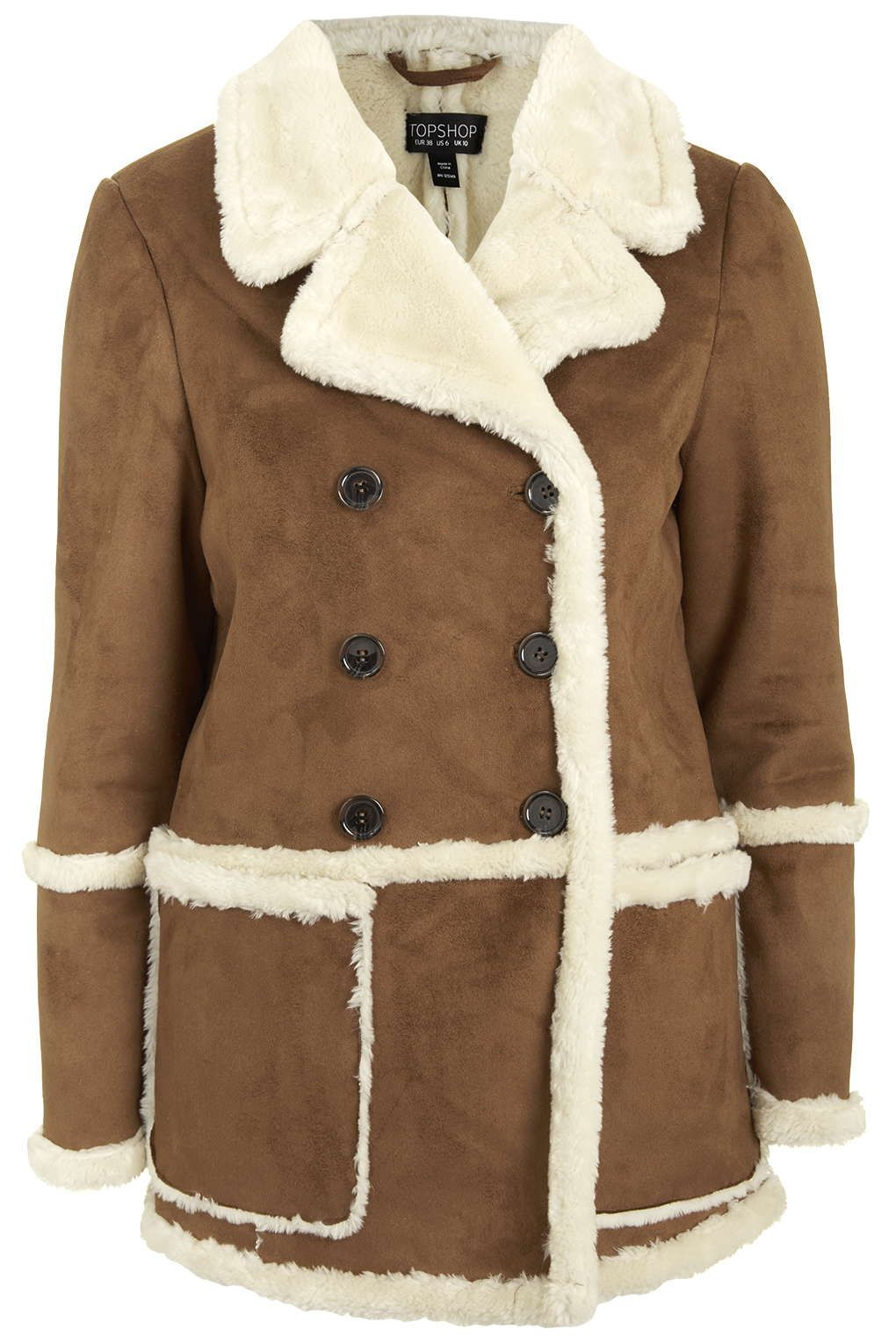 Faux-Shearling Car Coat | w i s h l i s t | Pinterest | Topshop ...