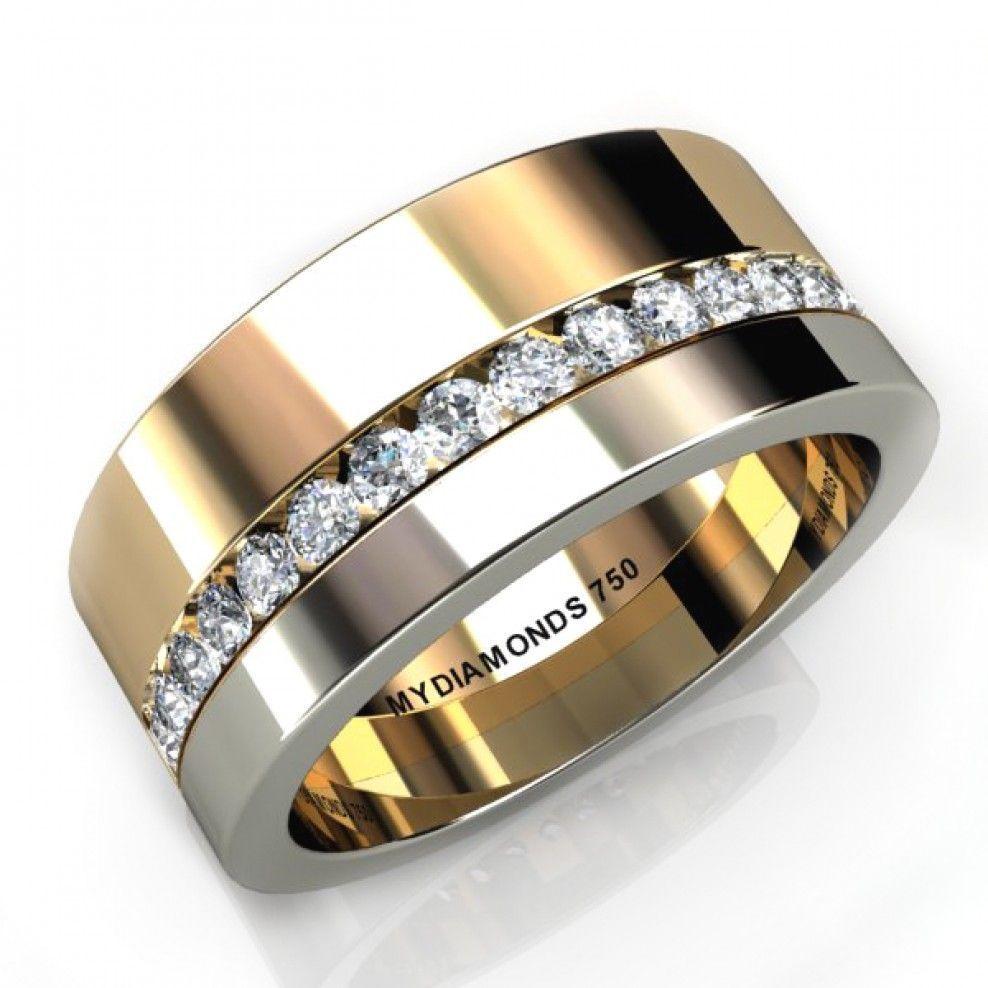 Aramis Men S Diamond Ring Total 0 40 Carats Two Tone Mens