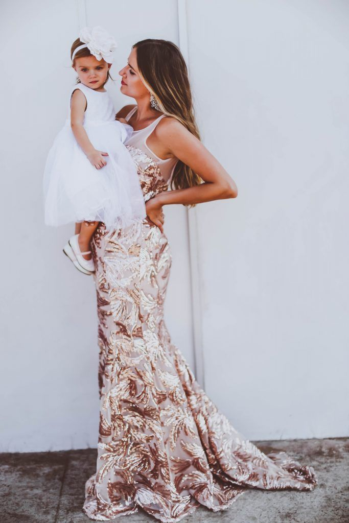 0b316018481 Family    Vienna as a Flower Girl. Fashion blogger Irina Bond in our  Mermaid Sequin Dress