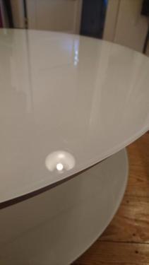 Ikea Strind Couchtisch75cm Durchmesserleichte Gebrauchsspuren In