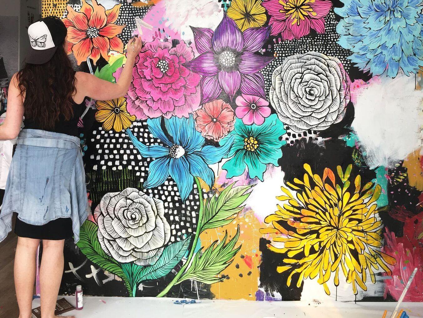 The Creativity Habit   Mural wall art, Mural painting ...