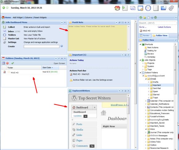 Transform Microsoft Outlook Into A Gtd Organizer With Jello Dashboard Microsoft Outlook Outlook Hacks Microsoft