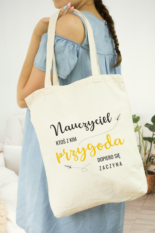 Printed Cotton Bag Teacher With Images Torba Nauczyciele Torby