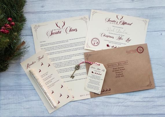 Personalised Letter from Santa - Nice List Certificate - Magic Key - Reindeer Food - Customised #reindeerfoodrecipe