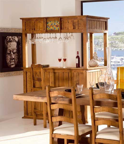 Pin de artesania y decoracion l c en muebles rusticos en 2019 barra bar y bares r sticos - Mueble bar rustico ...