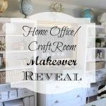 Home Office/Craft Room Makeover Reveal #craftroommakeovers