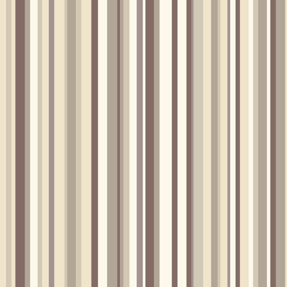 Sophia Stripe Wallpaper Natural Beige / Brown / Cream