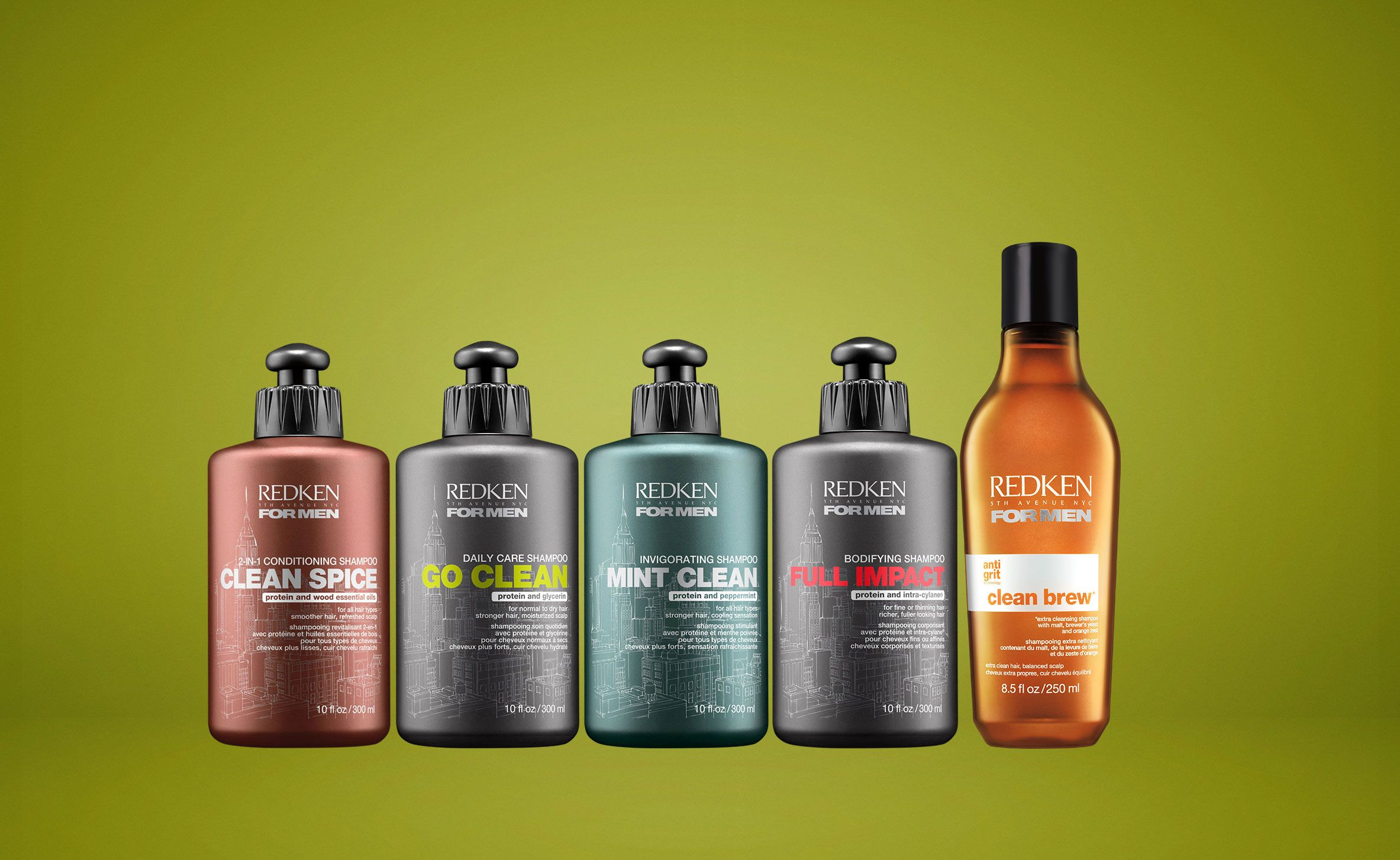 Redken 5th Avenue NYC For Men Haircare Product Line