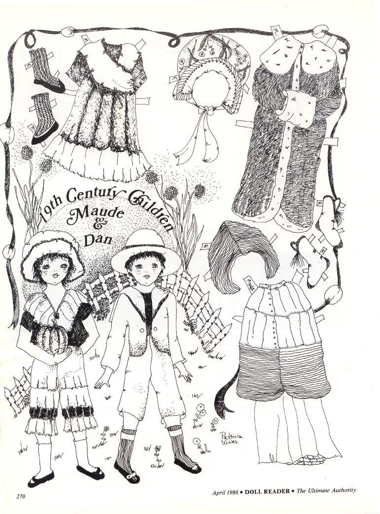 19th Century Children Maude & Dan by Pat Wilkes
