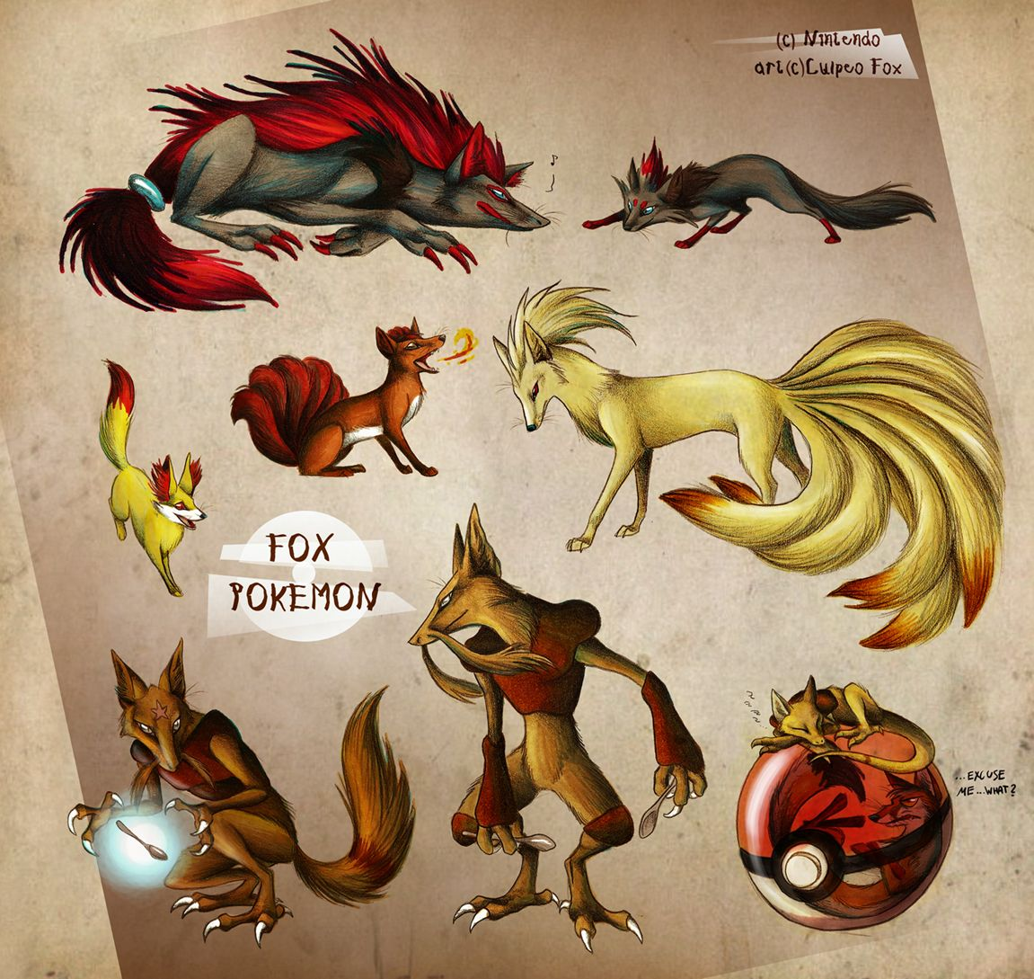 Fox Pokemon By Culpeo Foxdeviantartcom On At Deviantart Awesome