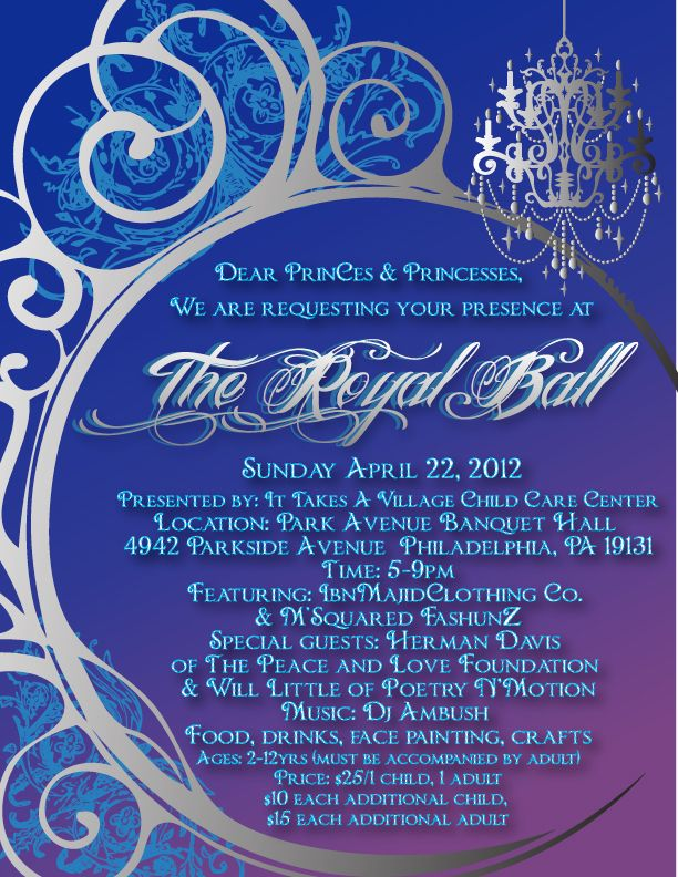 royal ball invitation wording