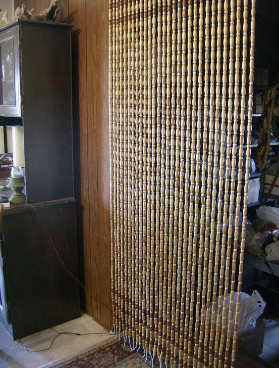 My Handmade Wooden Bead Curtain I Made With Vintage India Wood