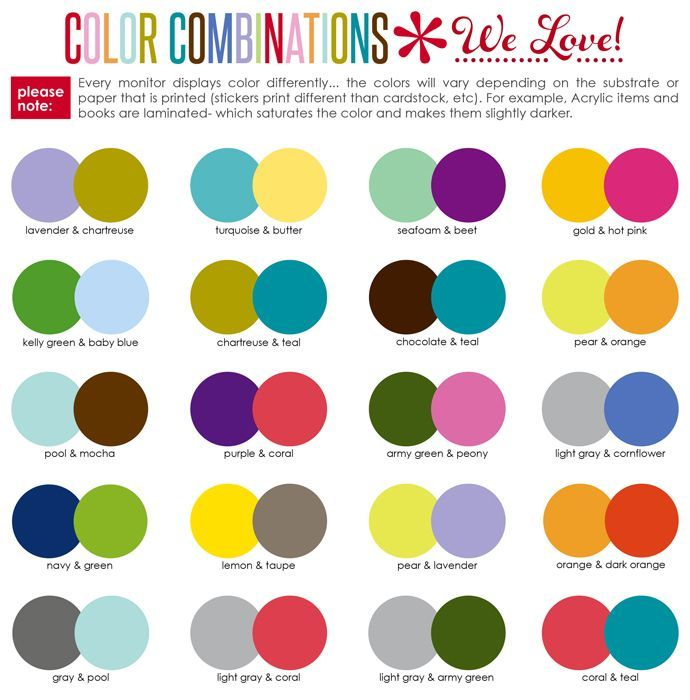 Perfect Color Combinations erin condren design | its always a good time to get personalized