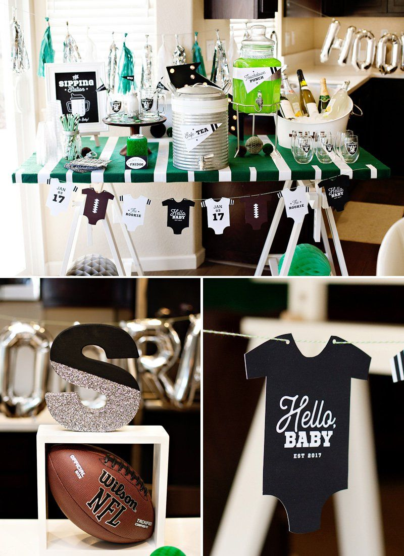 A Football Baby Shower Sip And See With Nfl Homegating Jess And