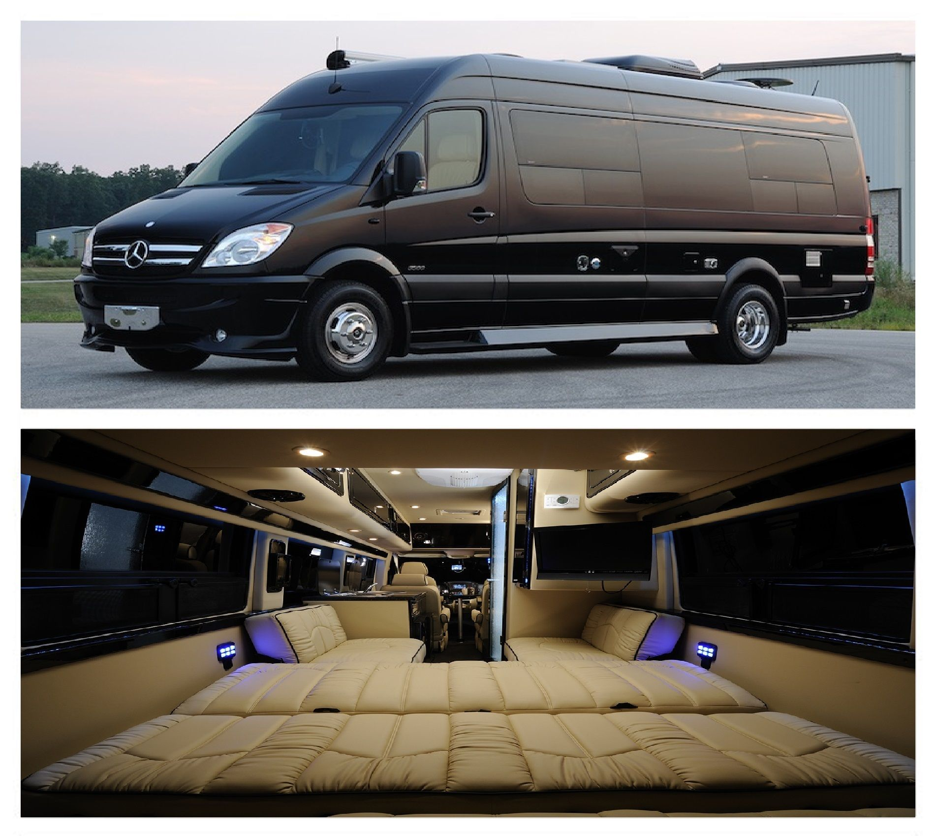 Mercedes Sprinter Rv >> Pin By Justin Jackson On Rv Racing Rates Luxury Van