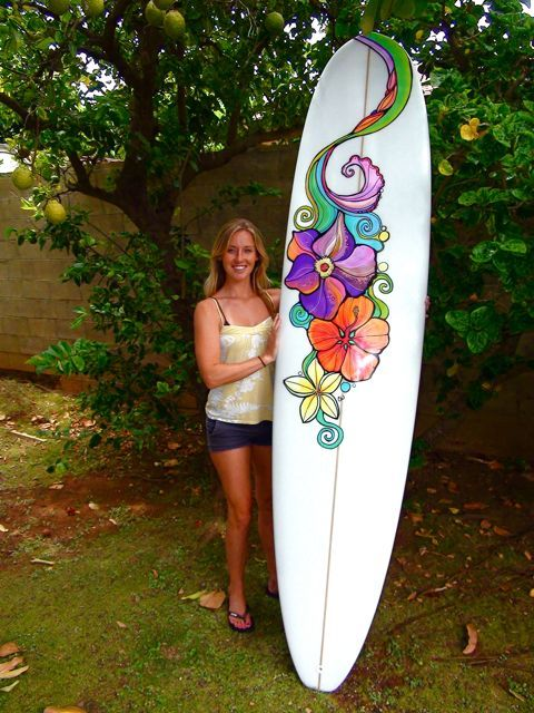 Flower Surfboard Surfboard Designs Surfboard Art Surf Art