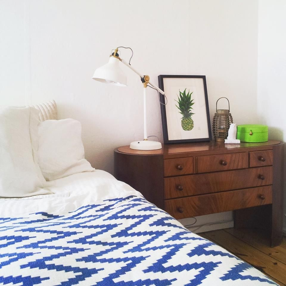 My Bedroom With The New IKEA Ranarp Lamp! Pineapple Drawing , An Original  Drawing In