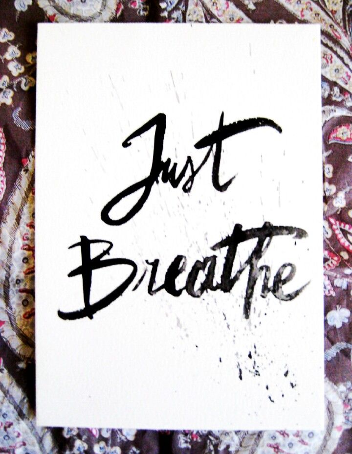 "Original brushed watercolor quote  "" Just Breathe ""  #art #drawing #pen #watercolor #aquashbrush #quote #justbreathe #yogaart #bohovibes #boholife #bohoart #handmade #original #etsy #etsyshop #LittleRaysOfHope #oneofakind #ooak #artwork #wallart #handlettering #handwriting #brushlettering #moderncalligraphy #hamdmade #calligraphy #brushcalligraphy"