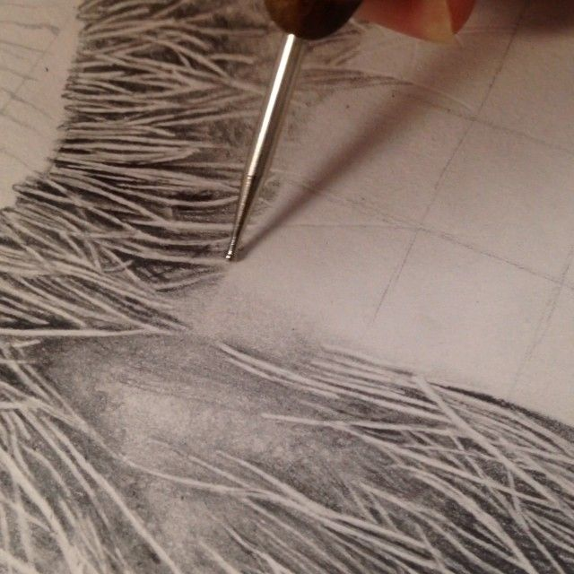 Monica Lee On Instagram This Is How I Draw White Hair Use A Stylus Or A Pen Without Ink To Make Indentations To The White Hair Monica Lee Hair Techniques