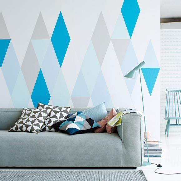 wandgestaltung und deko in zarten farben rauten w nde und wandgestaltung. Black Bedroom Furniture Sets. Home Design Ideas