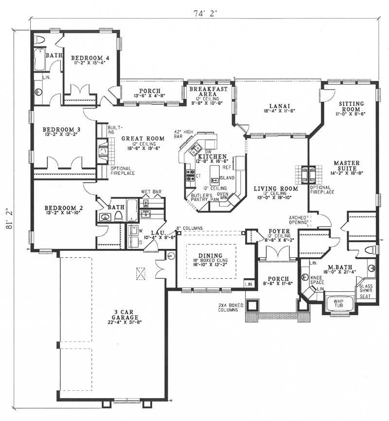 Featured House Plan Bhg 6983 Four Bedroom House Plans Contemporary House Plans House Plans