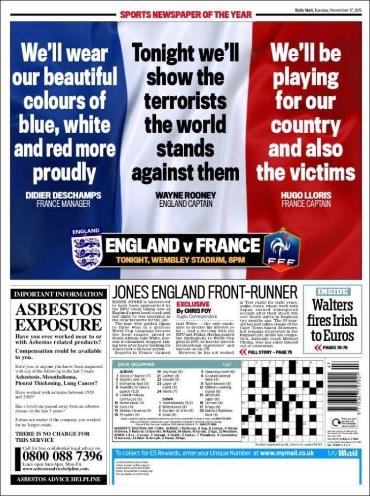 AngleterreFrance Marseillaise et drapeaux français