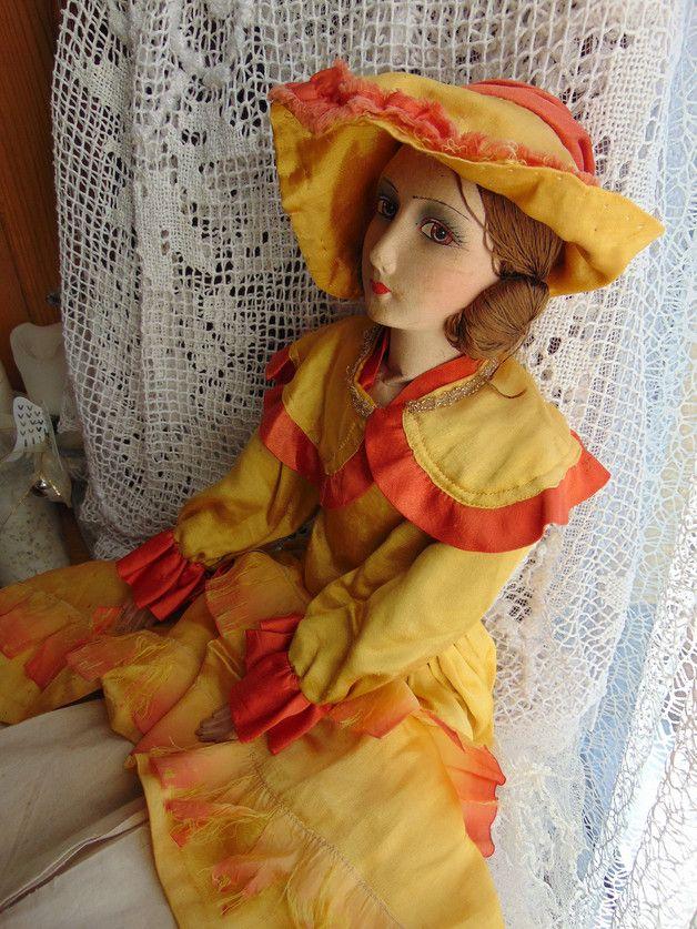 Boudir Puppe **Flammenkleid** | Vintage puppen, Puppen