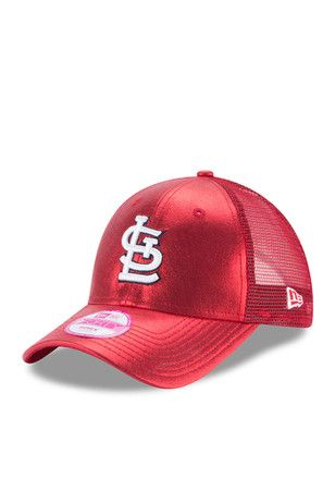 New Era St Louis Cardinals Red Glam Team 9FORTY Adjustable Hat  2d40064a154