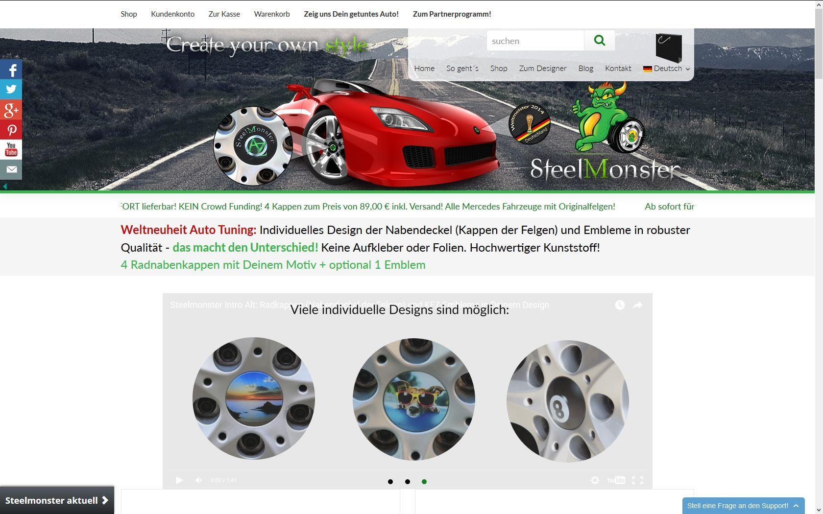 Steelmonster - Woocommerce Tuningshop - https://www.storetown-media.de/project/steelmonster/