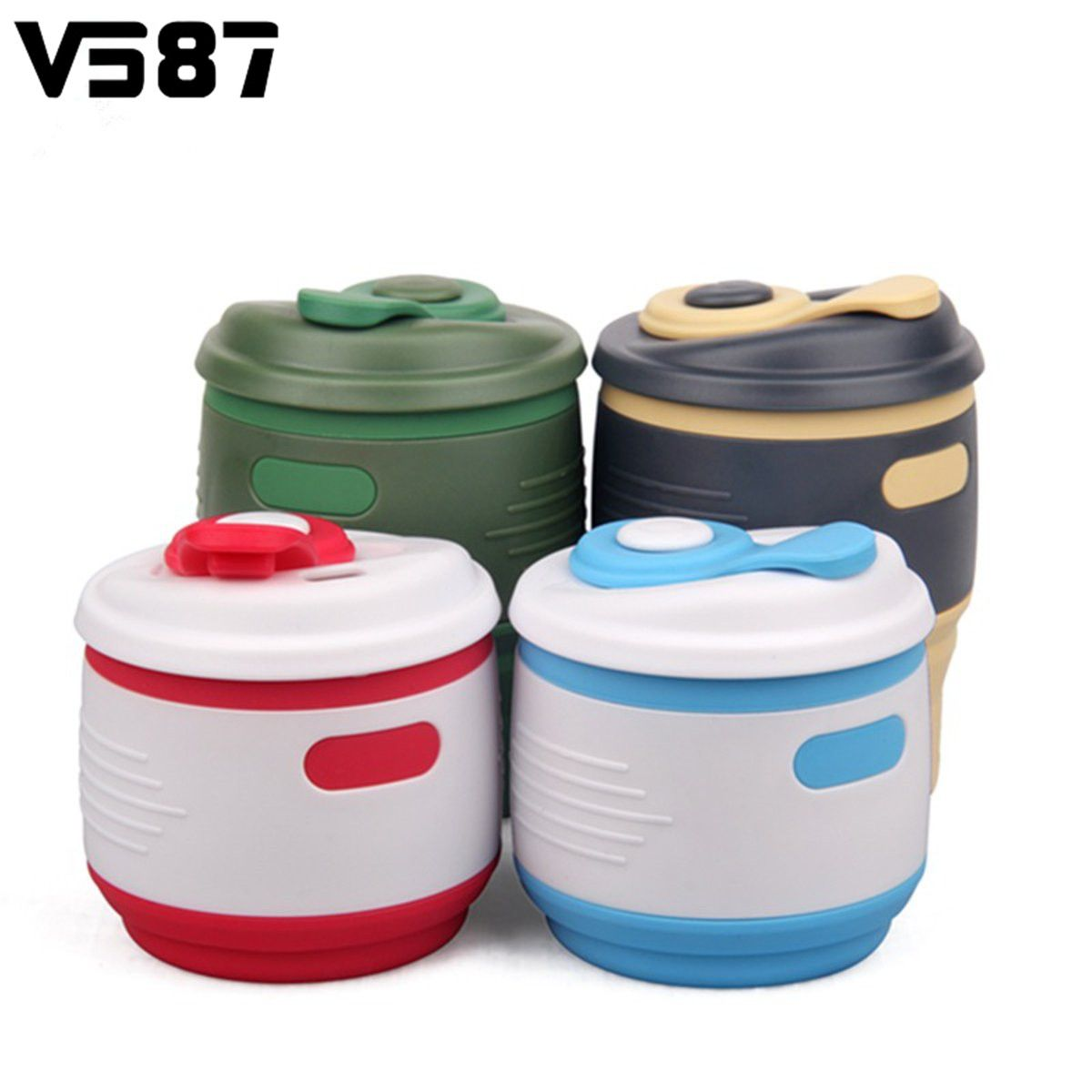Silicone Water Bottle Drinkware Sports Folding Coffee Outdoor Collapsible Bottle