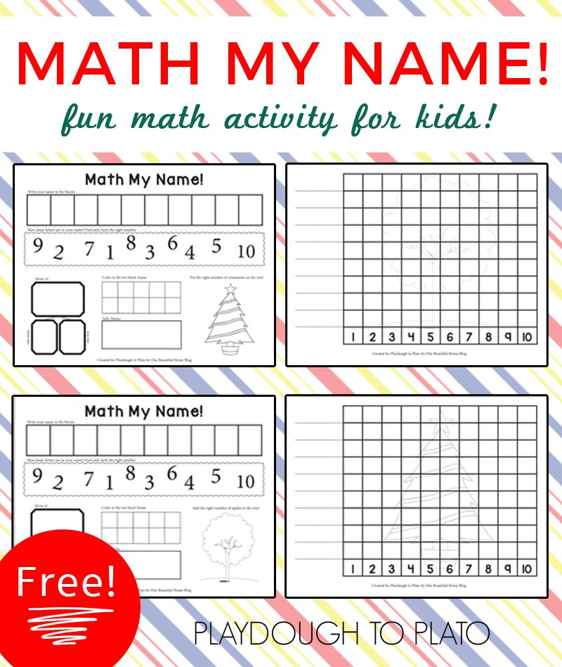 Math My Name | Kids writing, Number recognition and Ten frames