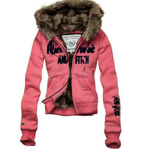 Abercrombie & Fitch fur hooded sweater. I love this! I wish they would make more like this nowadays.