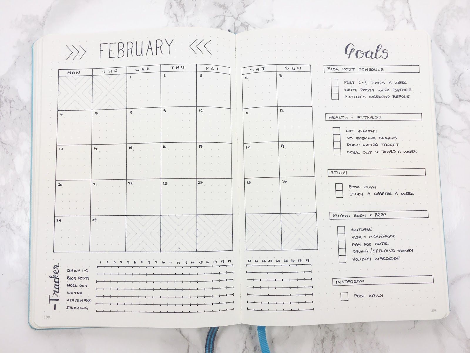 February Set Up Bullet Journal Layout Templates Bullet Journal Minimalist Bullet Journal Month