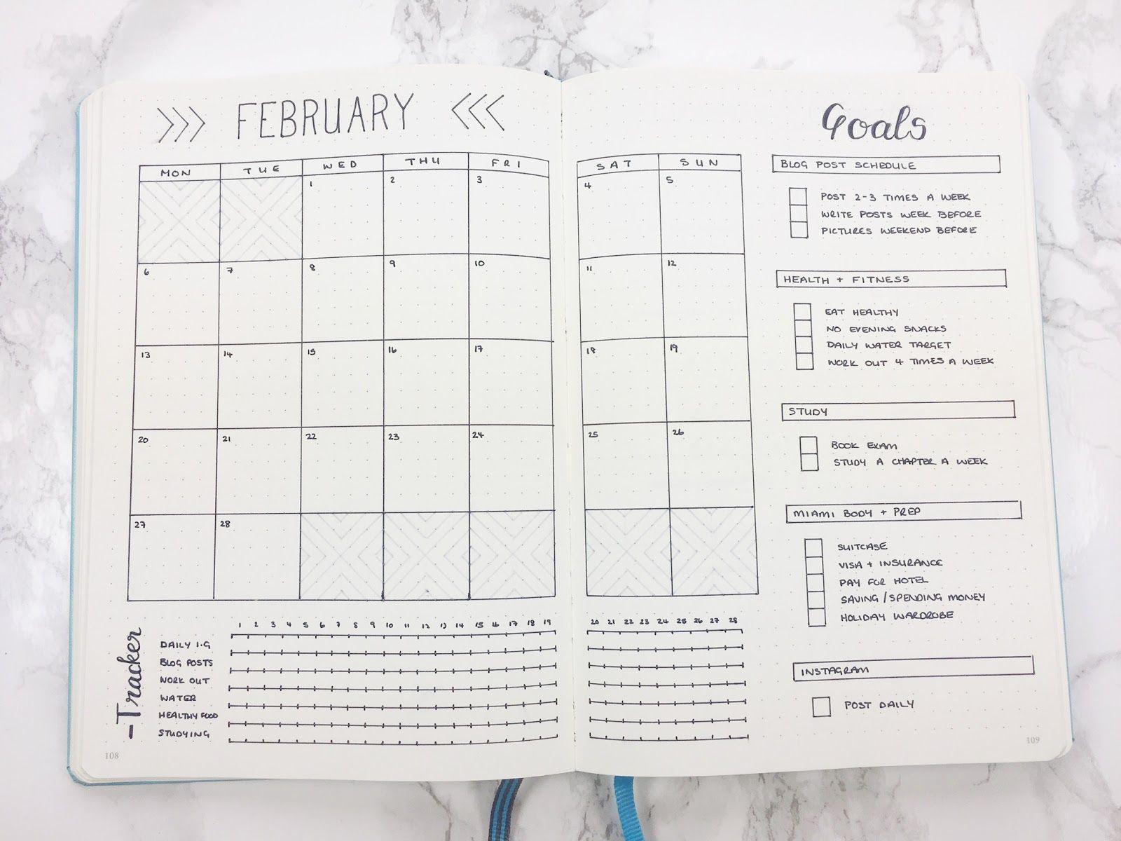 goal journal template