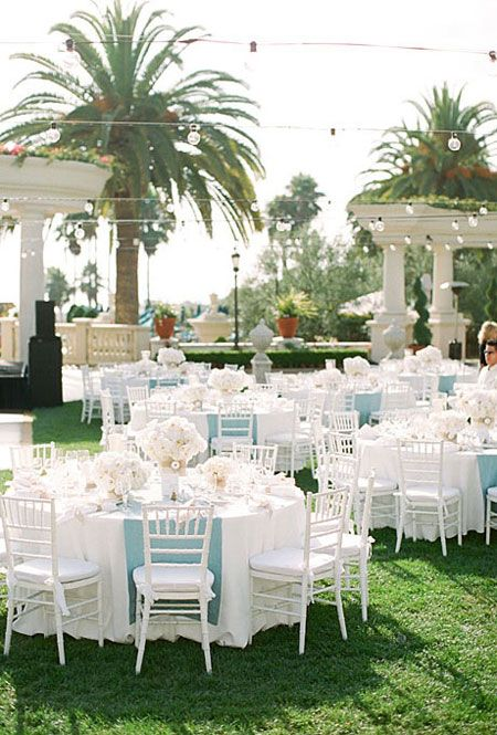 A Clic Outdoor Wedding In Southern California Beach Weddingsbaby Blue